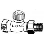 """Heimeier V-Exact radiatorafsluiter 3/4"""" recht vernikkeld 371203000"""