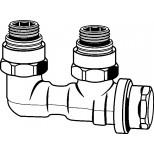 """Heimeier Vekolux onderblok 2-pijps 1/2""""-50mm haaks voor radiator bi.dr. 053150000"""