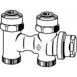 """Heimeier Vekolux onderblok 2-pijps 3/4""""-50mm recht voor radiator bui.dr. 053250000"""