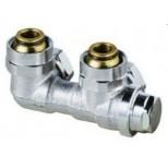 """Heimeier Vekolux onderblok 2-pijps 3/4""""-50mm haaks voor radiator bui.dr. 053350000"""