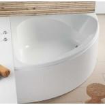 Hoesch Spectra kunststof hoekbad acryl 140x140x48cm met paneel met plint met onderstel wit 3654010
