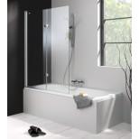 Hüppe 501 Design Pure bad draai-vouwdeur 100x150cm links 2-delig zilvermat/helder 175230087321