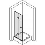 Hüppe 501 Design Pure zwaaivouwdeur voor hoekinstap 100x190cm links (2 delen nodig) zilvermat/helder 510952087321