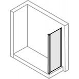 Hüppe 501 Design Pure zijwand voor zwaaideur 70x190cm met beugel 45° zilvermat/helder 510624087321