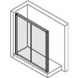 Hüppe Alpha schuifdeur 2-delig 120x90cm zilvermat/helder AL2020087321