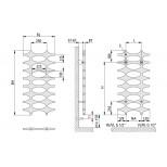 Kermi Ideos designradiator 1150x758mmm 564W glanszilver IDN10120075WXXK