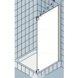 Kermi Pasa XP zijwand voor draaideur met vast segment F 100x200cm rechts matzilver/helder PXTFR100201AK