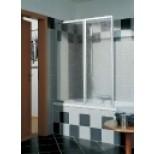Kermi Vario-2000 badklapwand 2-delig 110x140cm matzilvoor /helder V2FW2060141AK