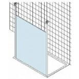 Kermi Walk-In Free douchewand vrijstaand met 2 plafondsteunen 119x200cm glanszilver/helder XXWSF11820VAK