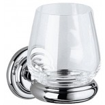 Keuco Astor glashouder met echt kristal glas chroom 02150019000