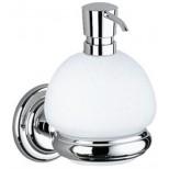 Keuco Astor lotiondispenser bolvorm met houder en pomp chroom 02153019000