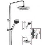 Kludi Zenta Dual shower systeem: glijstang, 2-weg omstel en handdouche 1S 115cm met doucheslang 160cm en hoofddouche chroom 660900500
