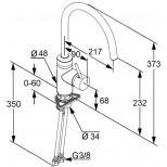 Kludi Esprit 1-gats keukenkraan chroom/wit 568039140