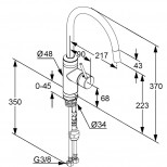 Kludi Esprit 1-gats keukenkraan met uittrekbaar mondstuk chroom/wit 568519140