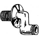 Sphinx S-koppeling ½x½ chroom sprong 30mm met rozet set á 2st.