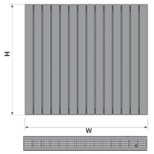 Thermic Veltis H100 alu decorradiator H600xL1050mm 1555W S600 wit stru