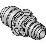 Uponor perskoppeling recht verlopend 16x14mm 1015162