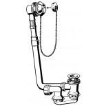 Viega Citaplex badplug- en overloopcombinatie met stop en ketting 40mm 109240