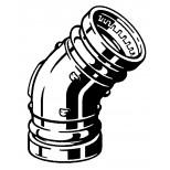 Viega Profipress brons bocht 45graden.2xpers. d108 351366