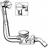 Viega Rotaplex rotaplex trio vulcombinatie met visign-RT3 afbouwdeel compleet voor afvoer 90mm chroom 606541