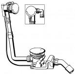Viega Rotaplex rotaplex trio vulcombinatie met visign-RT4 afbouwdeel compleet voor afvoer 90mm chroom 606558