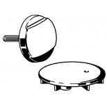 Viega Rotaplex rotaplex visign-R2 afbouwdeel chroom 490324