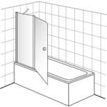Villeroy & Boch Frame To Frame badwand 2 delig 40x150cm Vilboclear chroom/ helder DW6040LOG171V61