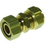 "Vsh Knelfitting 3-delige koppeling 3/4"" bi.x 22mm met pakking messing 874522"