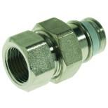 """VSH Simplex radiatorkoppeling met tape recht nikkel 1/2"""" vernikkeld 3204564"""