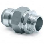 """Vsh Tectite 3-delige koppeling 42x1 1/2"""" push x buiten staalverzinkt 4758092"""