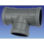 Wavin PVC manchet T-stuk 90° 110x40mm 3xmof 1112211049