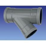 Wavin PVC manchet T-stuk 45° 110x110mm 3xmof 1112211004