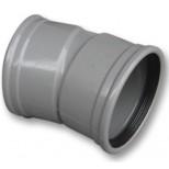 Wavin PVC manchet bocht 15° 110mm mof/mof 1111211001