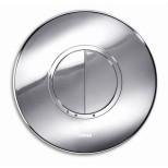 Wisa Taras bedieningsplaat kunststof mechanisch Ø 20.5cm met dualflush voor XS WC-element glanschroom 8050414251