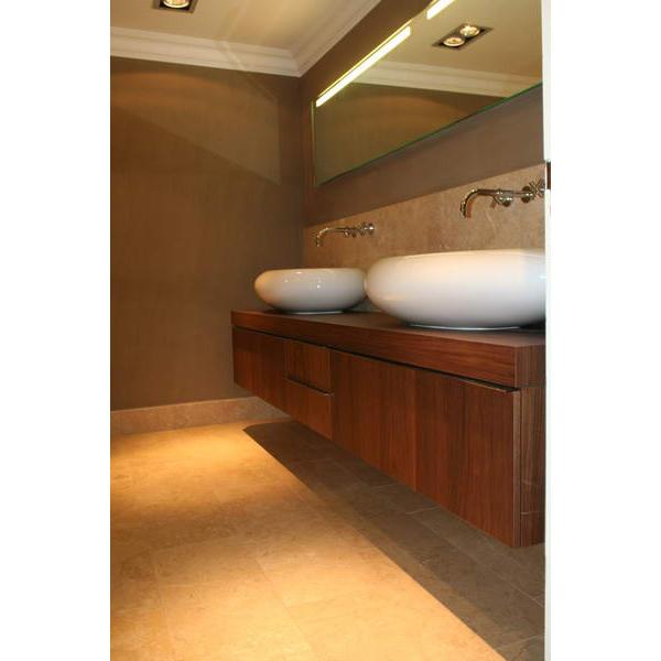 dubbel badkamermeubel opzetwastafels