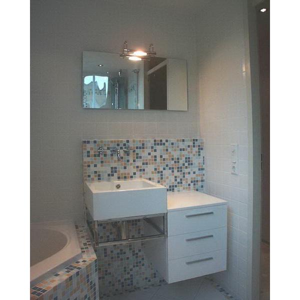 Badkamer hilvarenbeek appiani mozaiek met witte tegels - Wc mozaiek ...