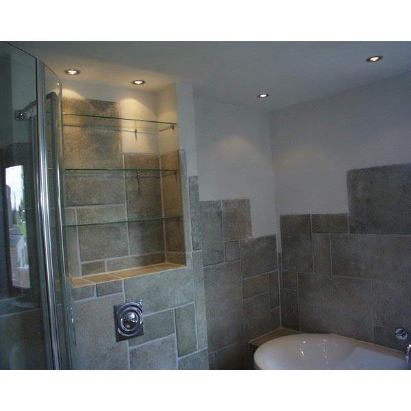 badkamer amersfoort halfvrijstaand ligbad met tegel stucwerk, Meubels Ideeën