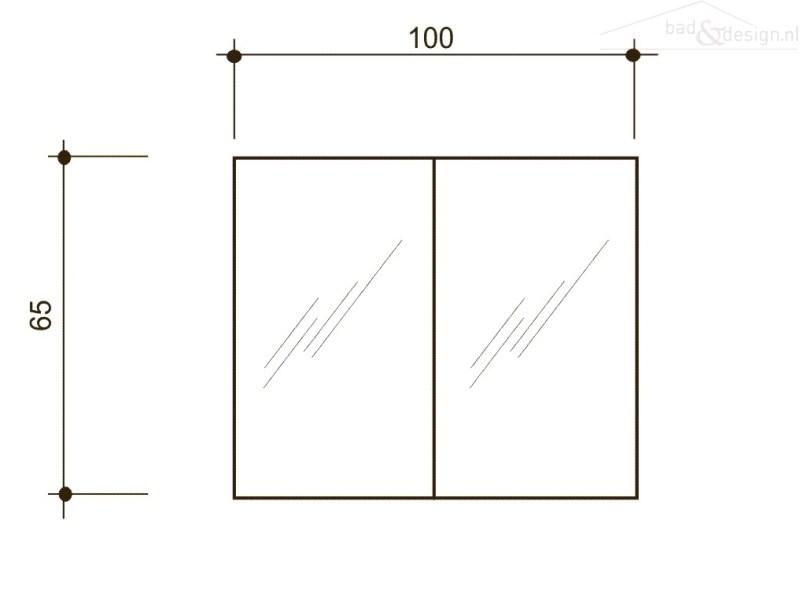 Handgrepen Keuken Industrieel : Detremmerie Dox spiegelkast met verlichting 100x65x18cm white