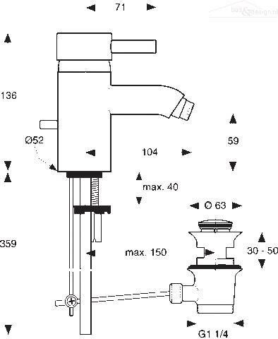 ideal standard celia bidetmengkraan met waste chroom a3442aa. Black Bedroom Furniture Sets. Home Design Ideas