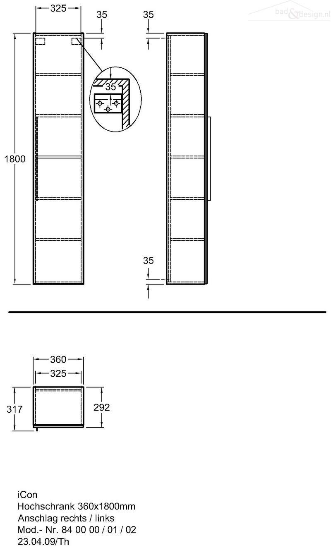 Sphinx 345 Hoge Kast 38x180cm Platina S8m09033hp0