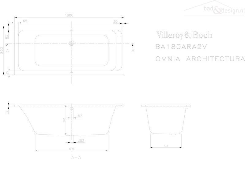 Handgrepen Keuken Industrieel : Villeroy & Boch Omnia Architectura kunststof bad acryl rechthoekig
