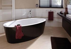 Bette bicolour vrijstaande baden