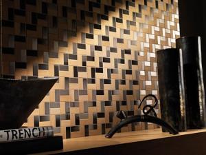 Mozaiek hout metaal