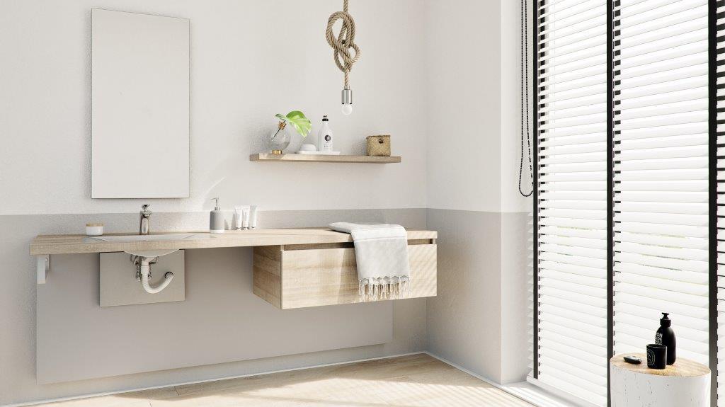Primabad Hoog-Laag badkamermeubel Systeem