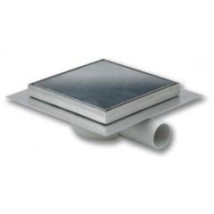 Aquaberg kunststof doucheput 150x150mm ZU met rvs te
