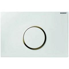 Geberit Sigma 10 bedieningsplaat 1-knops t.b.v .UP300/320/700 wit/glans/wit 115758KJ1