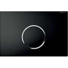 Geberit Sigma 10 bedieningsplaat 1-knops t.b.v .UP300/320/700 zwart/glans/zwart 115758KM1