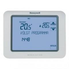 Honeywell Chronotherm klokthermostaat Touch 24V aan/uit met touchscreenbediening inclusief. 2x batterij wit TH8200G1004