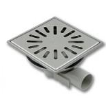 Aquaberg vloerput 150x150mm RVS met zijuitlaat 40mm