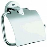 Grohe Essentials closetrolhouder met klep chroom 40367000